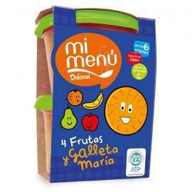 4 frutas y galleta María